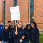 Students Protest to Support Dismissed Security Guard
