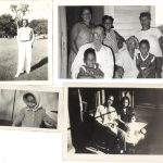 Photo album page with 4 black and white family photos