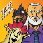 Vidar & Hans with the Stoughton Opera House. Comic book by Gary Nauman and Nathan Peterson