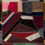 square from a colorful patchwork quilt