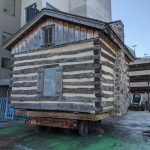 Madison Children's Museum temporarily relocates historic log cabin