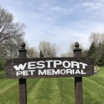 Westport pet memorial sign
