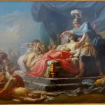 painting titled Achilles Displaying the Body of Hector at the feet of Patroclus