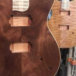 image of guitar in process of being made