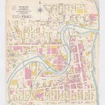 map of Racine WI dated 1906 with areas appearing in pink and yellow.
